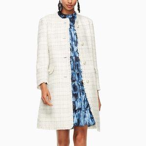 Kate Spade Women's Natural Sparkle Tweed Coat